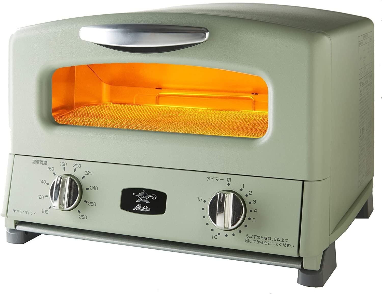 4枚焼き 温度調節機能 タイマー機能付きグリーン AGT-G13A(G)