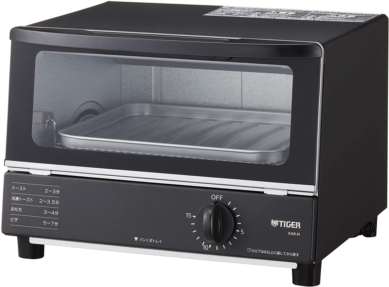 タイガー魔法瓶(TIGER) オーブントースター グレーやきたて KAK-H100-K ブラック
